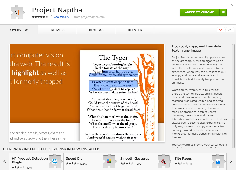 Project Naptha Makes Image Text Accessible in Chrome