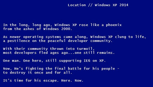 Businesses are Desperately Clinging to XP