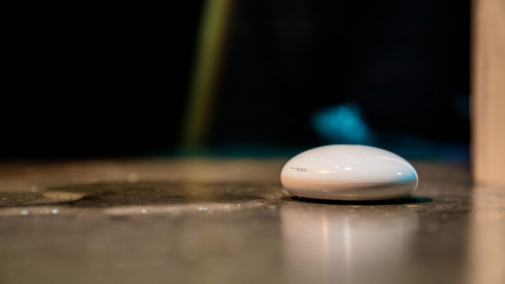 Smart Home security doesn't stop with burglary, connected water leak sensors like Fibaro can alert homeowners of a leak before it becomes damaging.