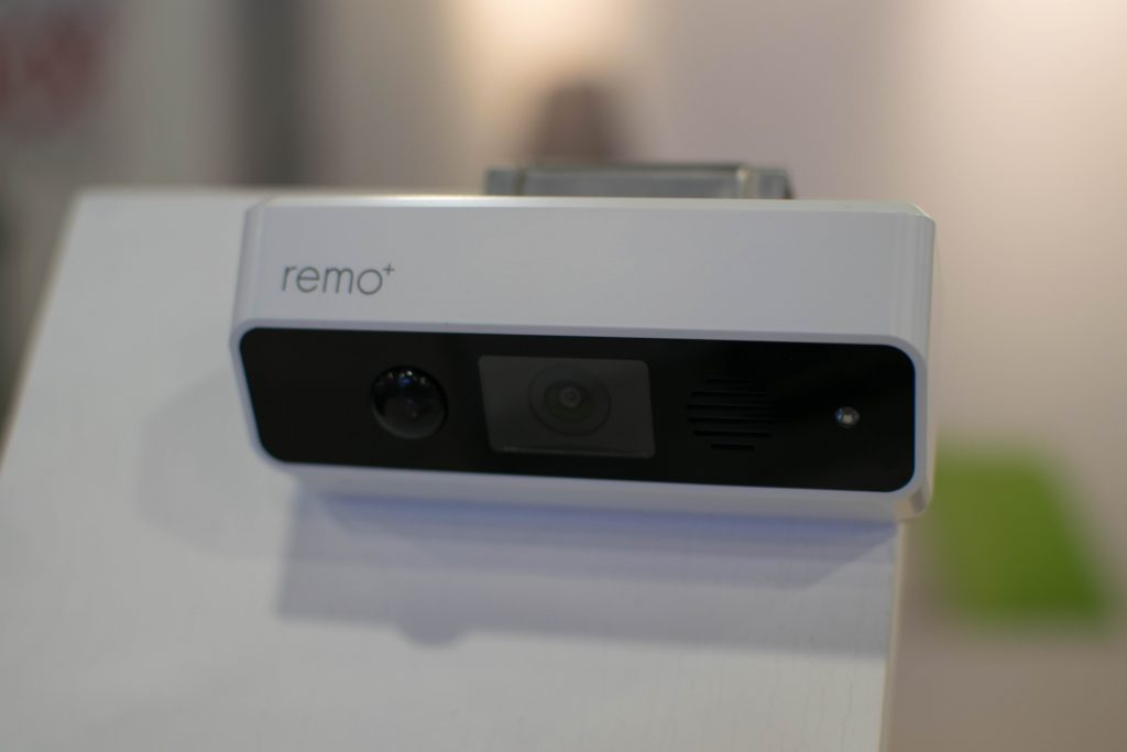 CES, Smart Home, smart lighting, Home Automation. The remo+ DoorCam enables two-way communication and video surveillance for non-doorbell setups.