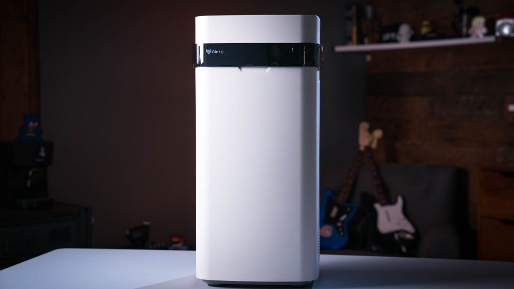 air purifier, air ionizer, home tech, health. The Airdog X5 Wi-Fi air purifier tackles airborne contaminants down to .0146 microns, with built-in sensors.
