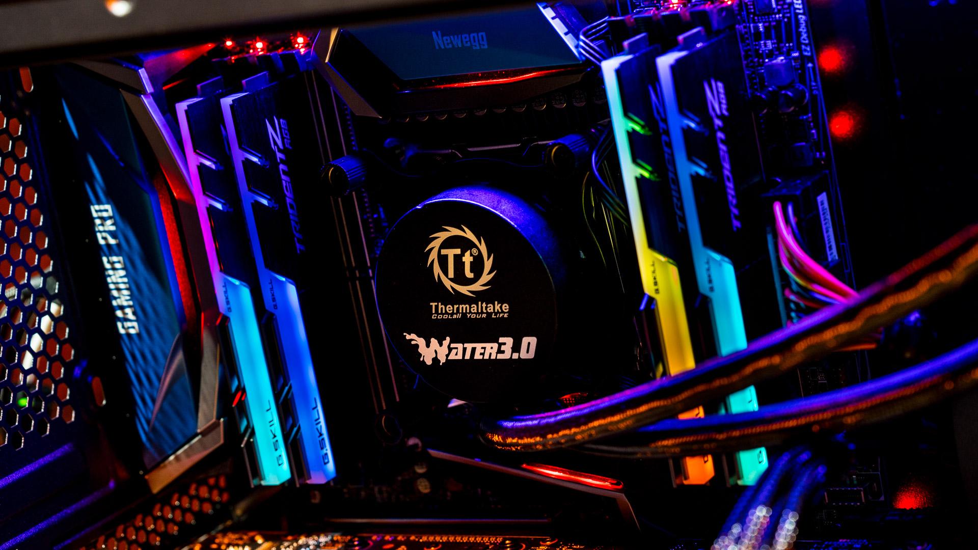 RAM in a motherboard