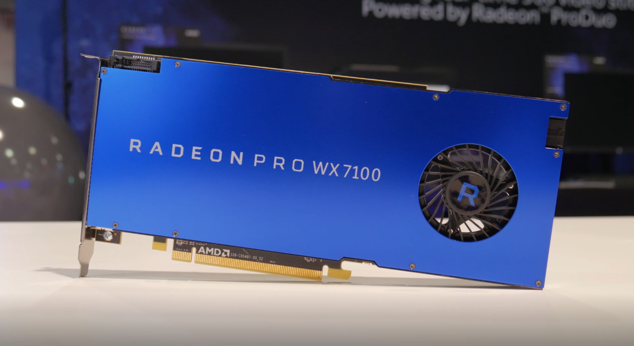 AMD Radeon Pro WX 7100: Overview and professional applications