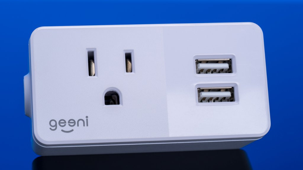 Geeni's Switch and Charge Wi-Fi plug has all the features of a standard smart plug, but with the added bonus of two USB charging ports.