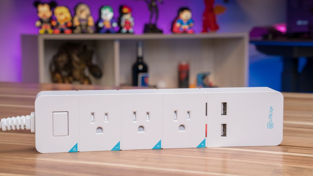 The LITEdge Smart Power Strip allows users to operate up to 3 devices plugged in at one time via app.