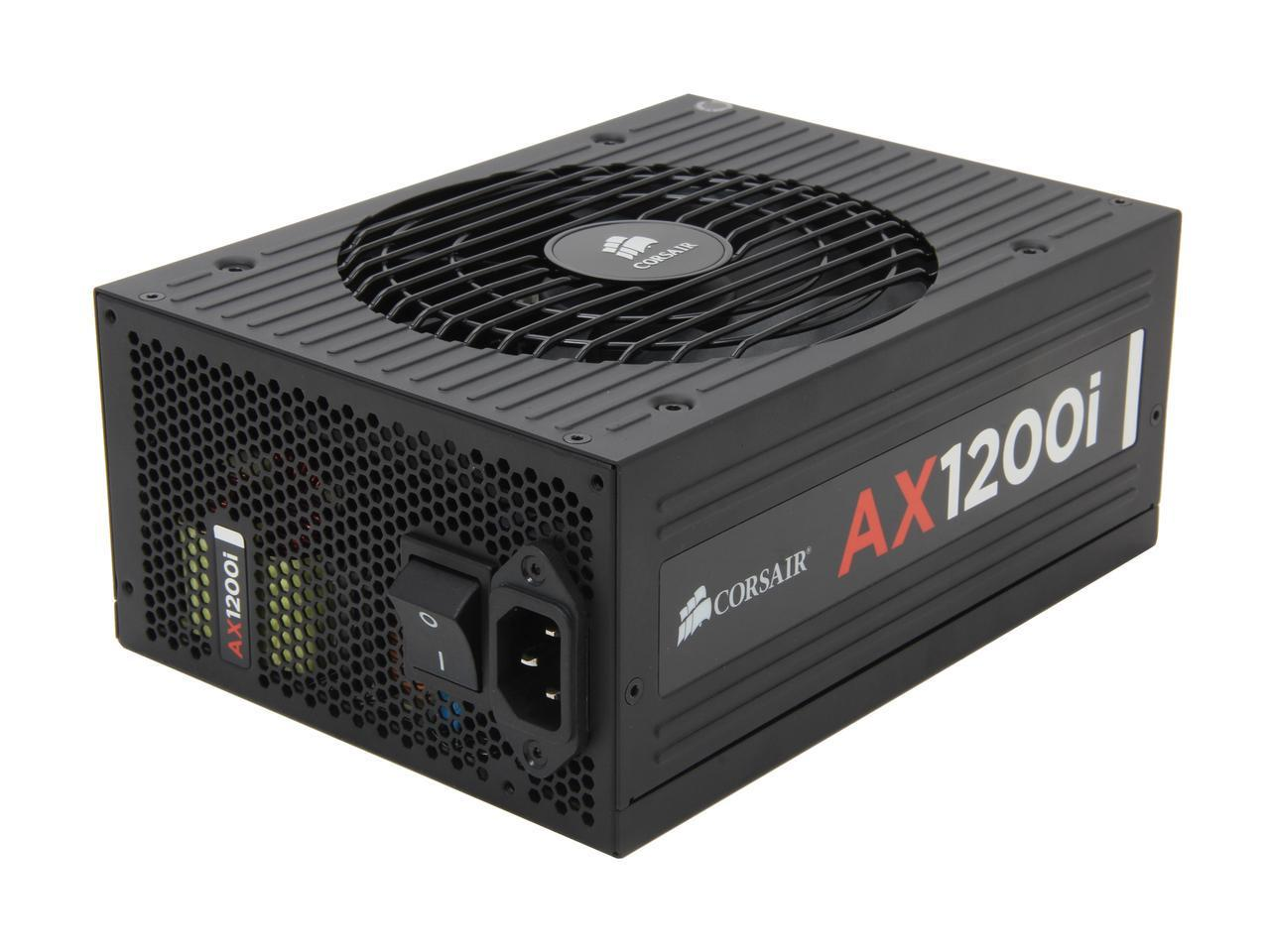 corsair axi series ax1200i digital 1200w 80 plus platinum haswell