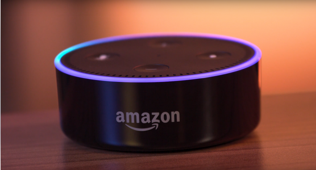 Amazon Echo is a compact device that can automate lighting, sprinklers, locks, and more.