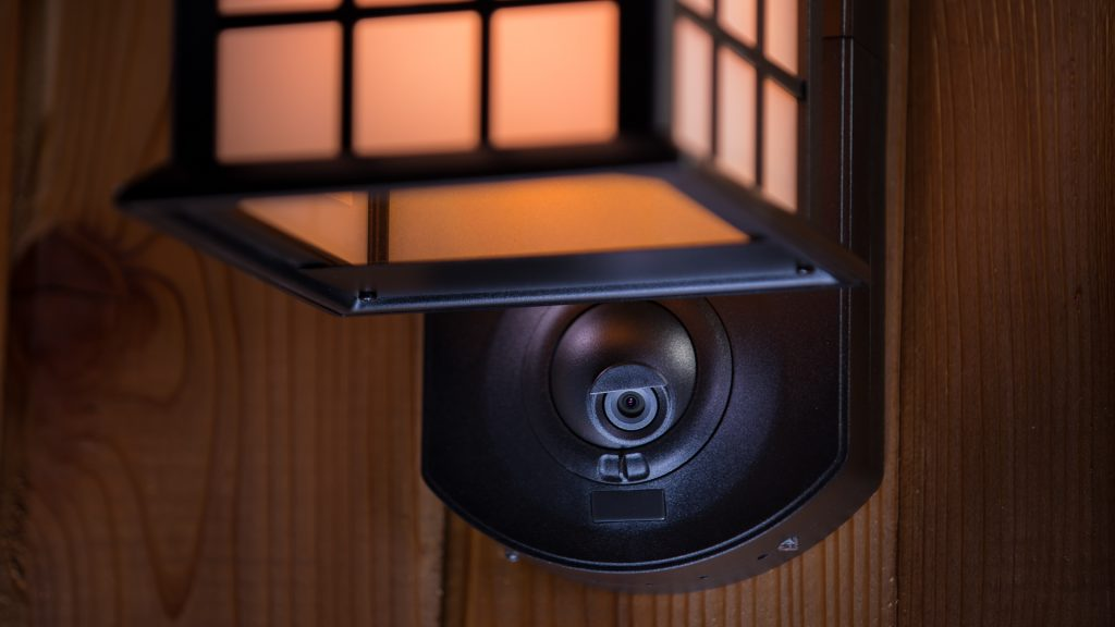 The 720p video camera on the Maximus Smart Security Light can be rotated 40° for different angles.