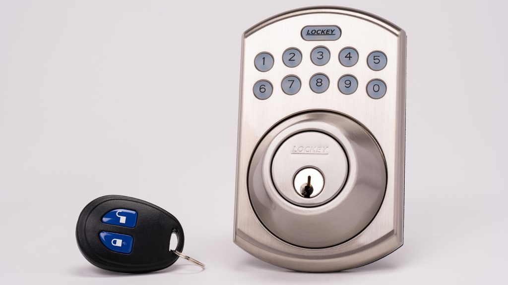 Smart locks are quintessential Smart Home security devices for greater awareness and control, like this smart lock from Lockey.