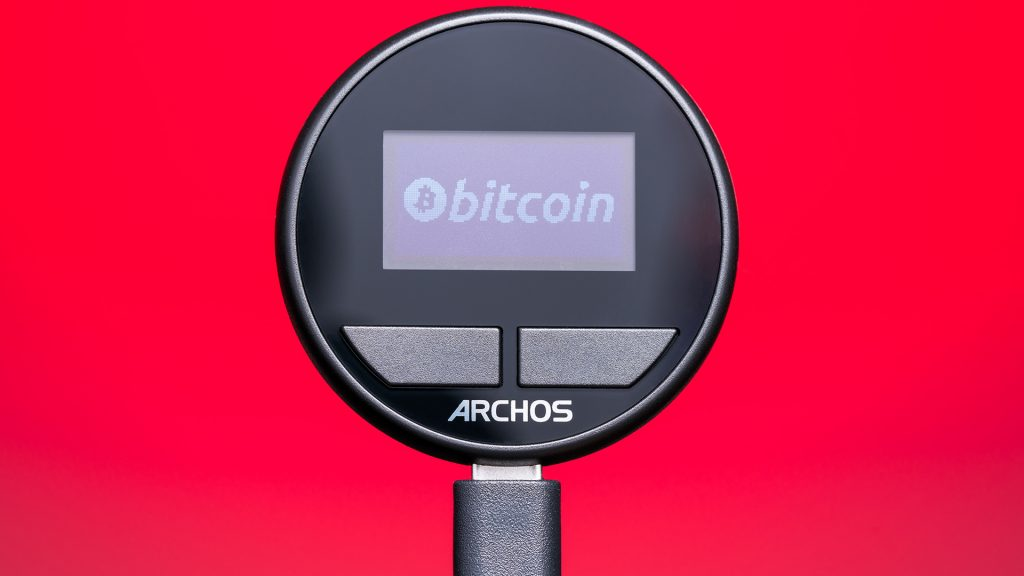 The cryptocurrency wallet from Archos has a few hoops to jump through to establish security, but transactions were quite simple.