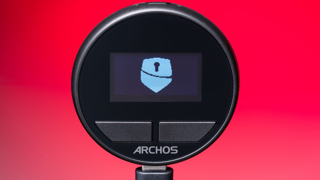 The Archos Safe-T mini cryptocurrency wallet is a pocket-sized secure way to store and transfer crypto.