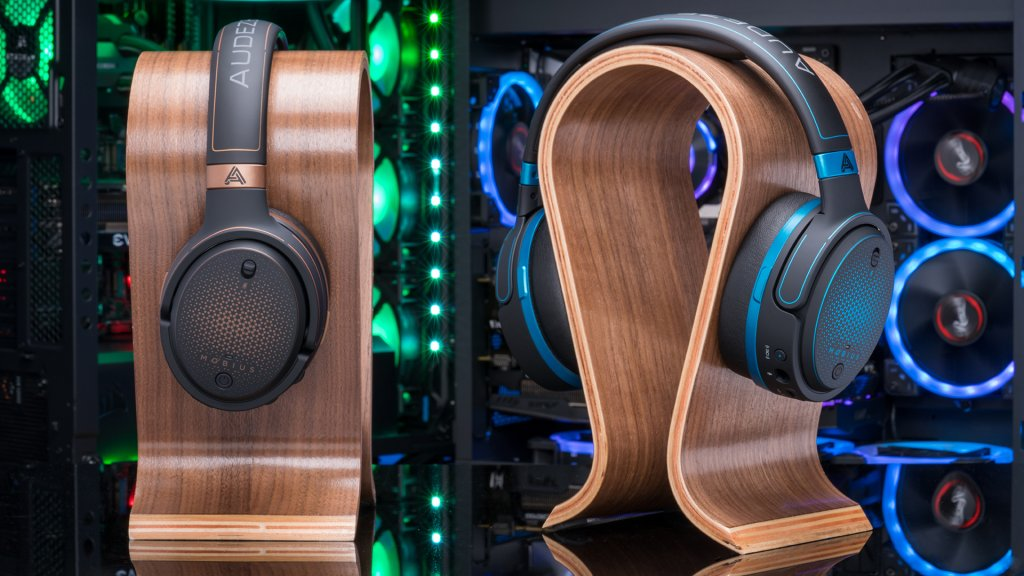 0122974506e The Audeze Mobius gaming headsets, offered in blue and copper, are a true  audiophile's