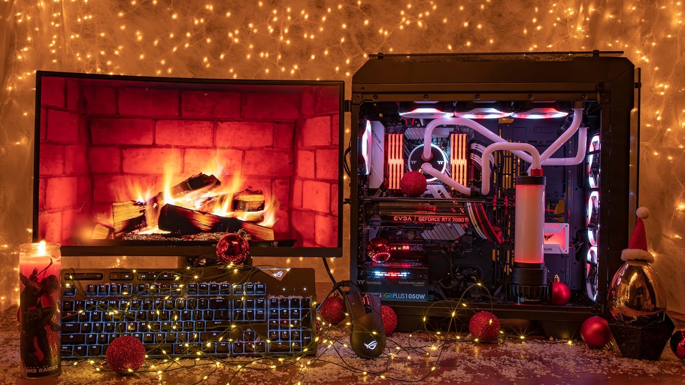 Watch Newegg's Holiday Yule PC livestream all December long