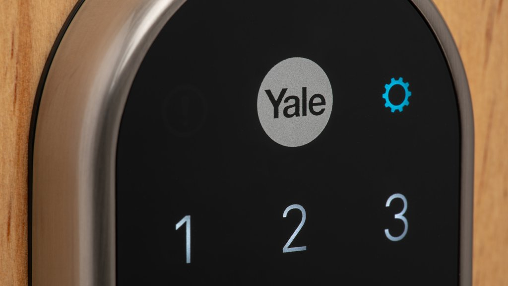 The Nest x Yale smart lock can be operated via pin code or app to lock and unlock the deadbolt.