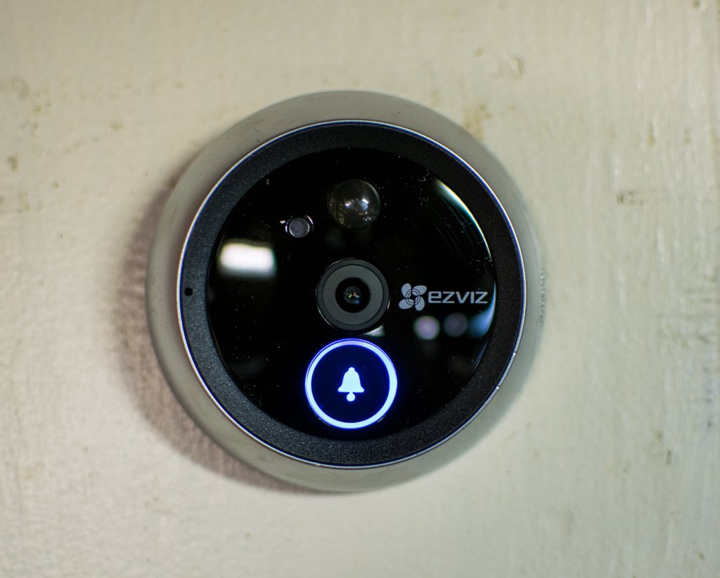 Installing a smart peephole is as simple as unscrewing the old lens and inserting the new unit. With a few modifications, residents can safely see visitors without walking all the way to the door, or even needing to be home.