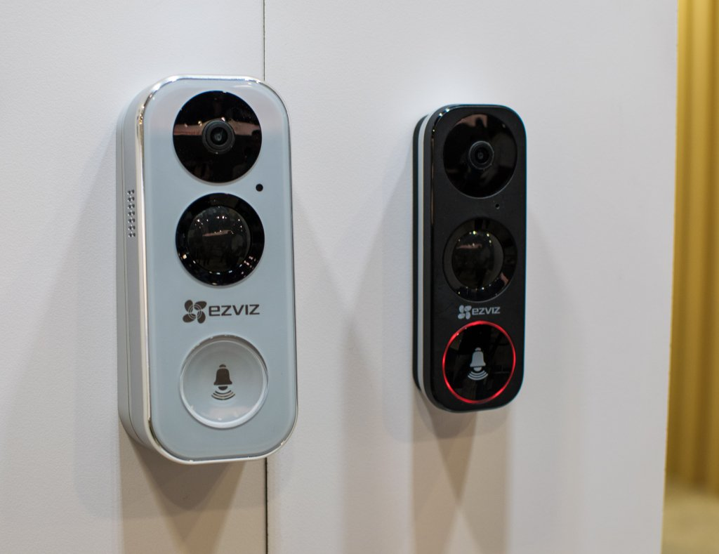 EZVIZ's first smart doorbell, the DB1 uses PIR sensors to detect motion up to five meters away and pairs with the EZVIZ smart security ecosystem.
