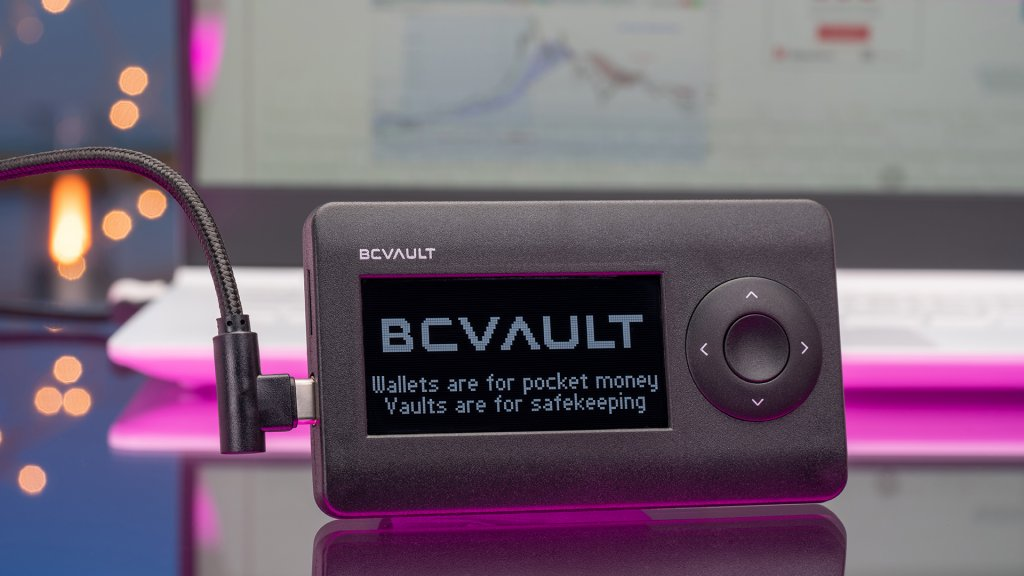 The BC Vault One cryptocurrency wallet offers a range of innovations, like ferroelectric RAM storage and non-deterministic wallets.