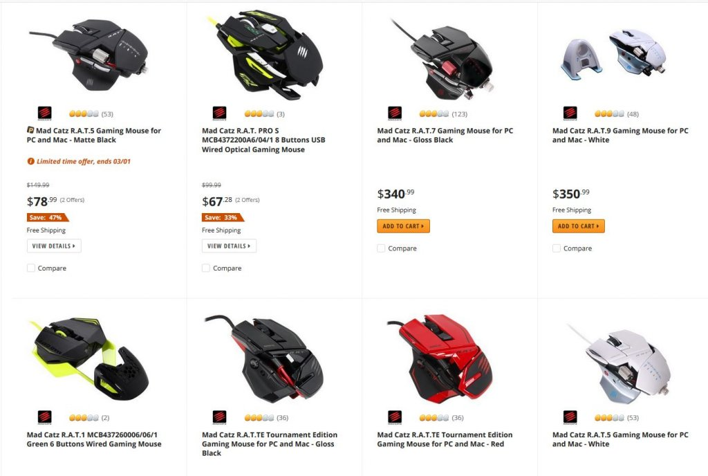 newegg mad catz mice