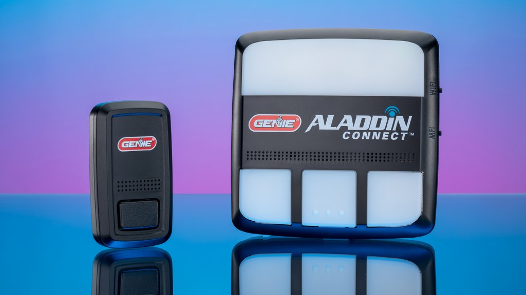 The Genie Aladdin Connect smart garage sensor can power up to three garage doors with one module, and give extra control from anywhere.