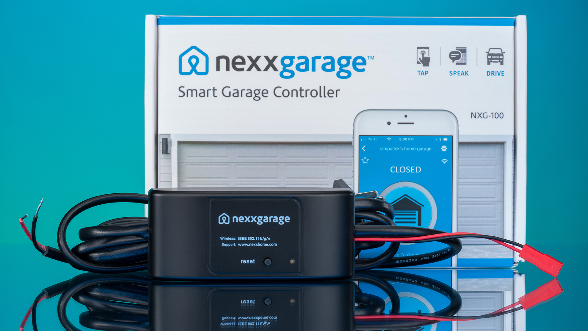 The new Nexx Garage smart garage door opener is a sleeker design from the original, but with the same remote operating and smart device capabilities. Nexx Garage gives any garage door the ability to be opened via smart phone, with added security and monitoring capabilities.