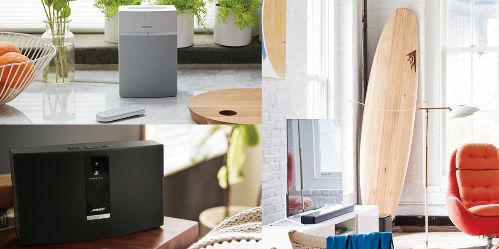 With a Bose SoundTouch system, you can stream music from your home and set up a wireless home audio surround system.