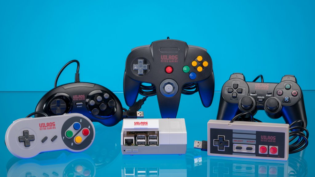 Vilros' retro gaming kit includes controllers that feel as good as or better than the real thing.