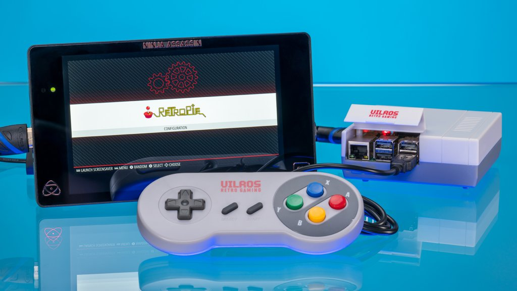 Each Vilros retro gaming kit includes a microSD card with RetroPie preloaded.