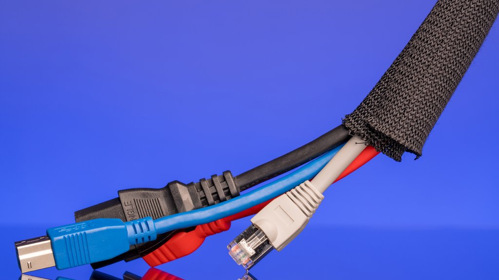 For consolidating the cables in your TV or computer setups, use Label-the Cable's Cable Tube for easy bundling and removal.