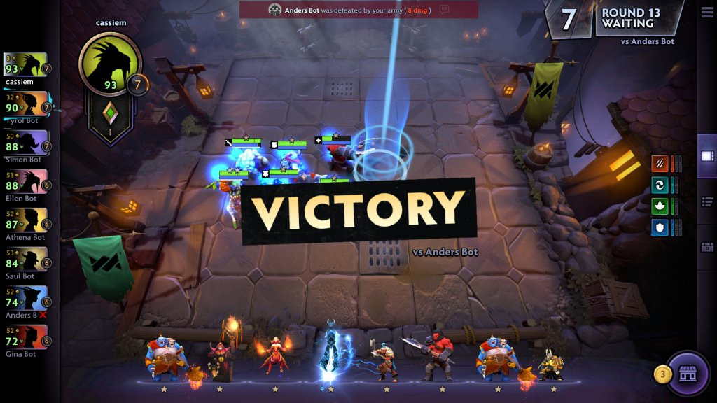dota underlords victory screenshot