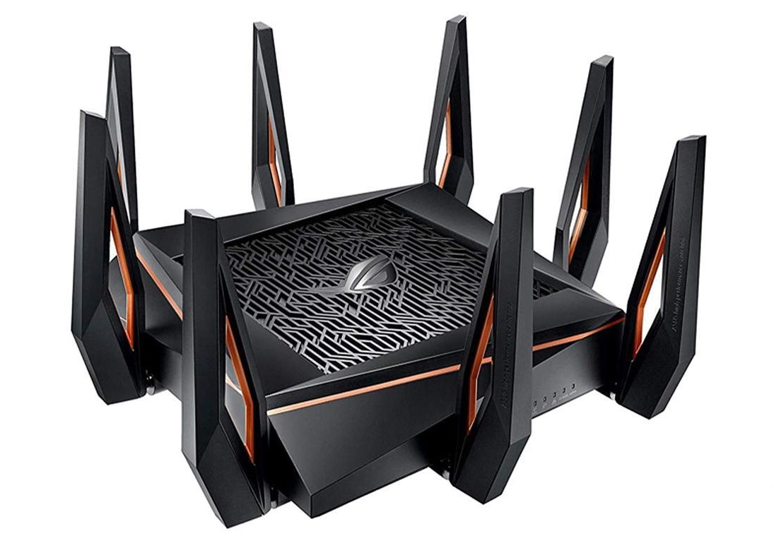ASUS ROG Rapture GT-AX11000 Angled to the Left