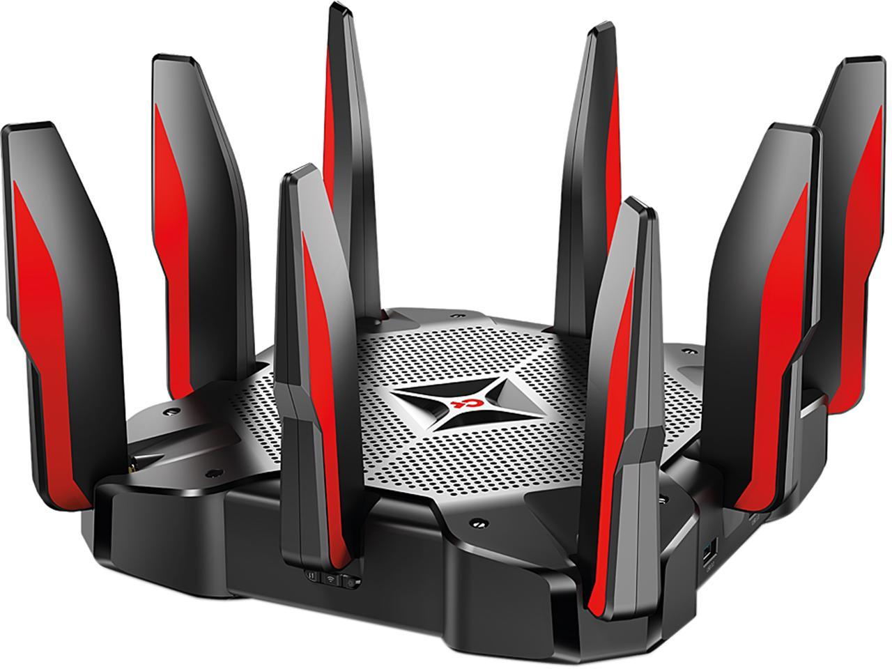 TP-Link Archer C5400X Angled Down to the Left