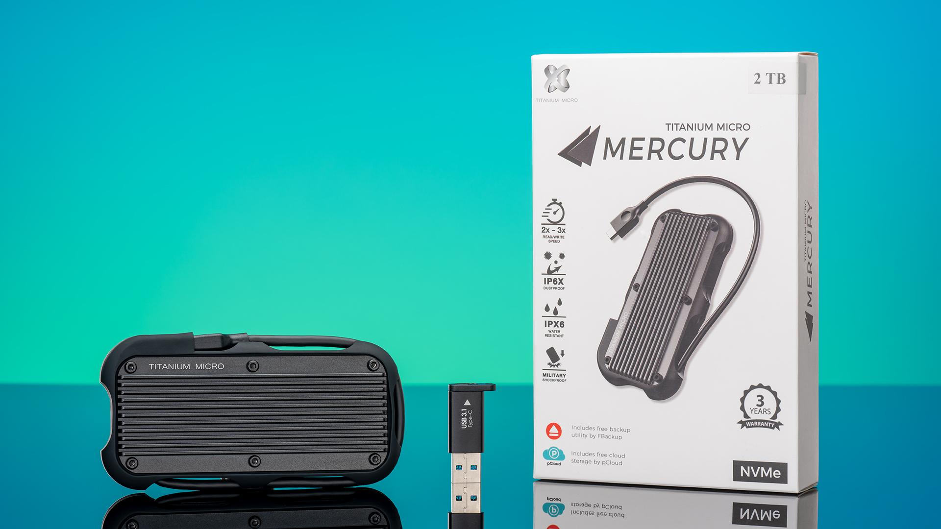 Titanium Micro Mercury: A portable external SSD built like a tank