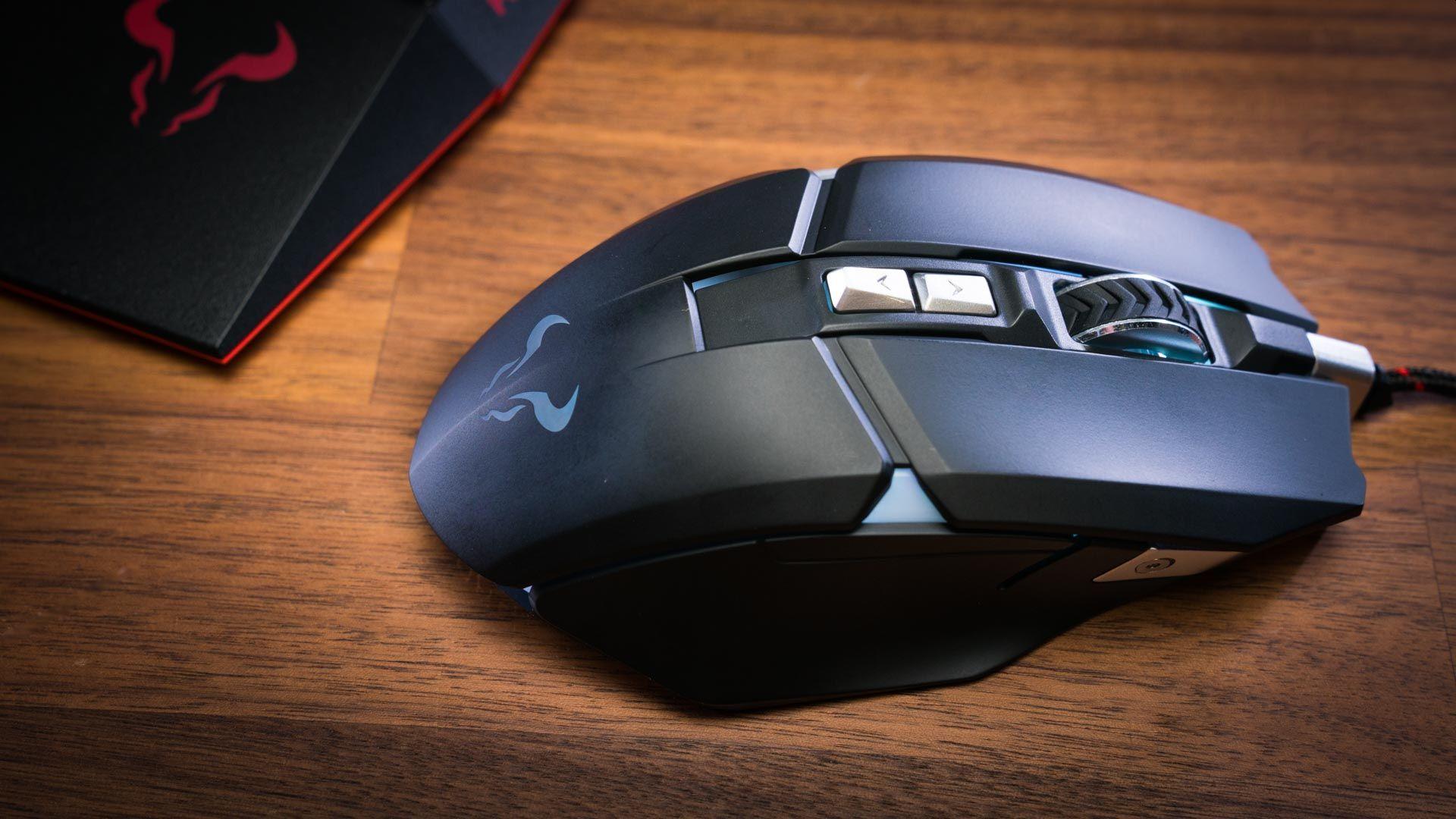 Riotoro Aurox Black Prism Mouse 10000 DPI optical sensor