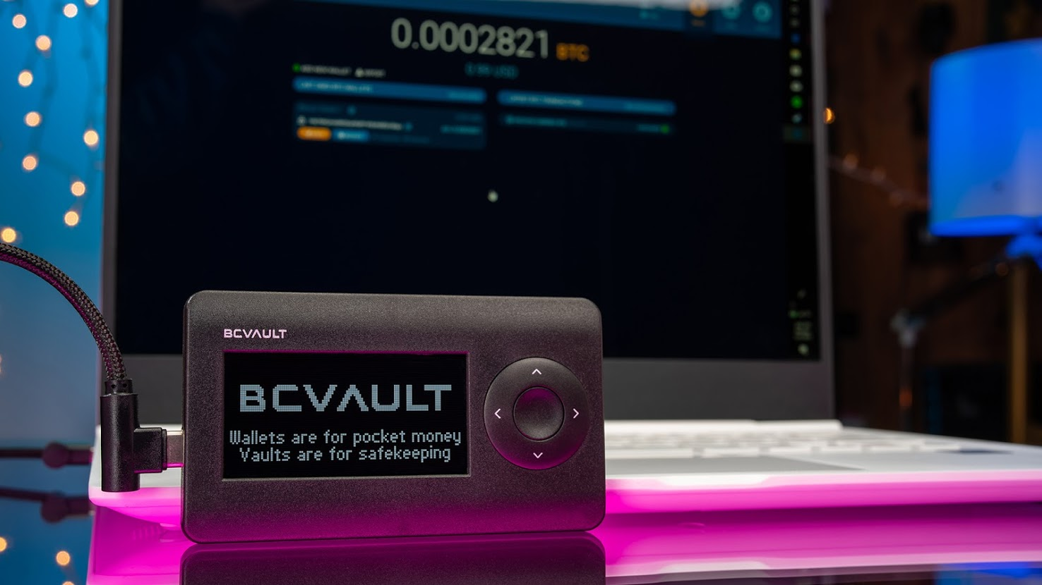 BC VAULT is the most secure type of cryptocurrency vault / wallet which stores the user's private keys on a secure hardware device.