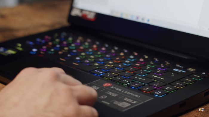 With a steel series RGB keyboard