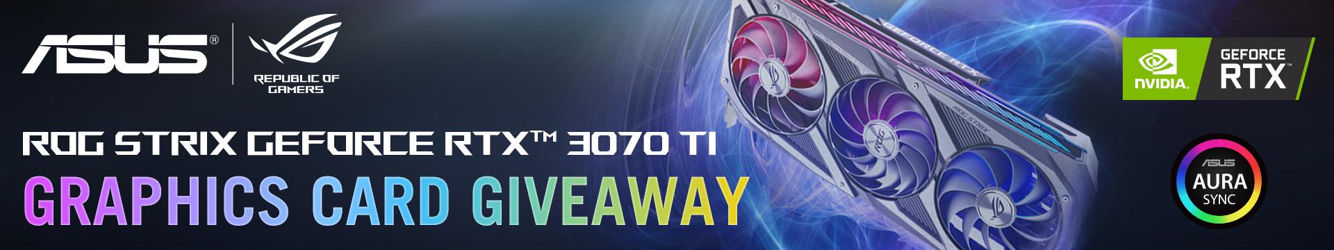 GTX 3070 Ti Giveaway