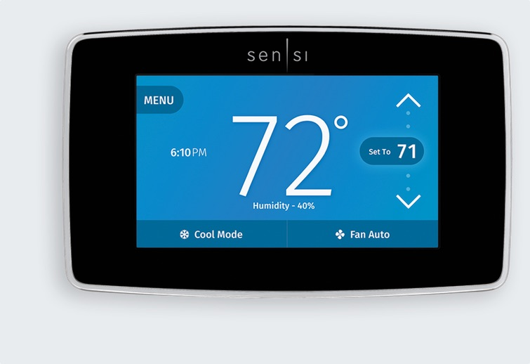 The Emerson Sensi smart thermostat has advanced scheduling, app control, and geofencing for automatic heating and cooling.