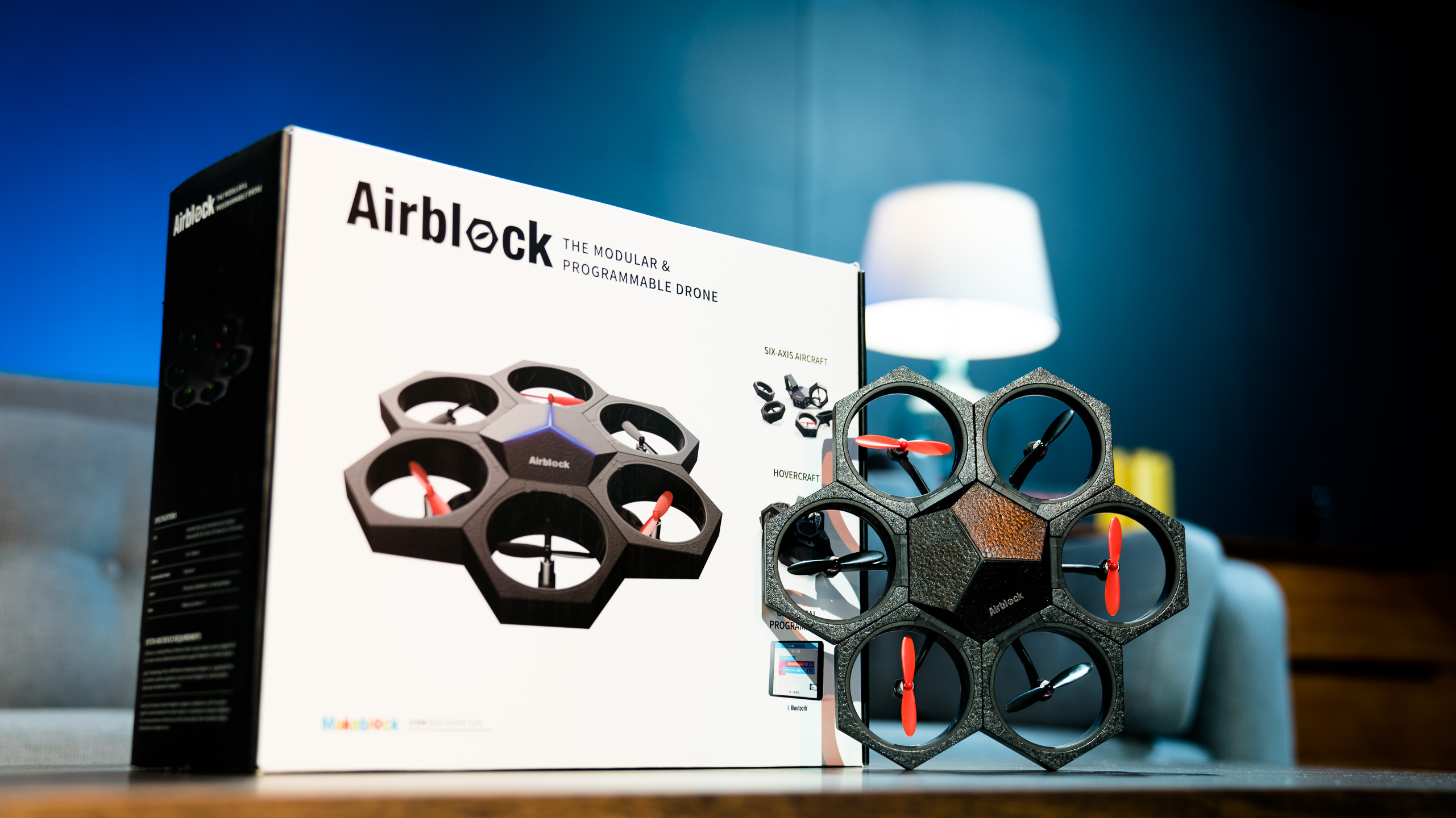 The Airblock programmable drone is another STEM toy from Makeblock that combines coding with a fun construction aspect, to teach kids applicable tech skills.