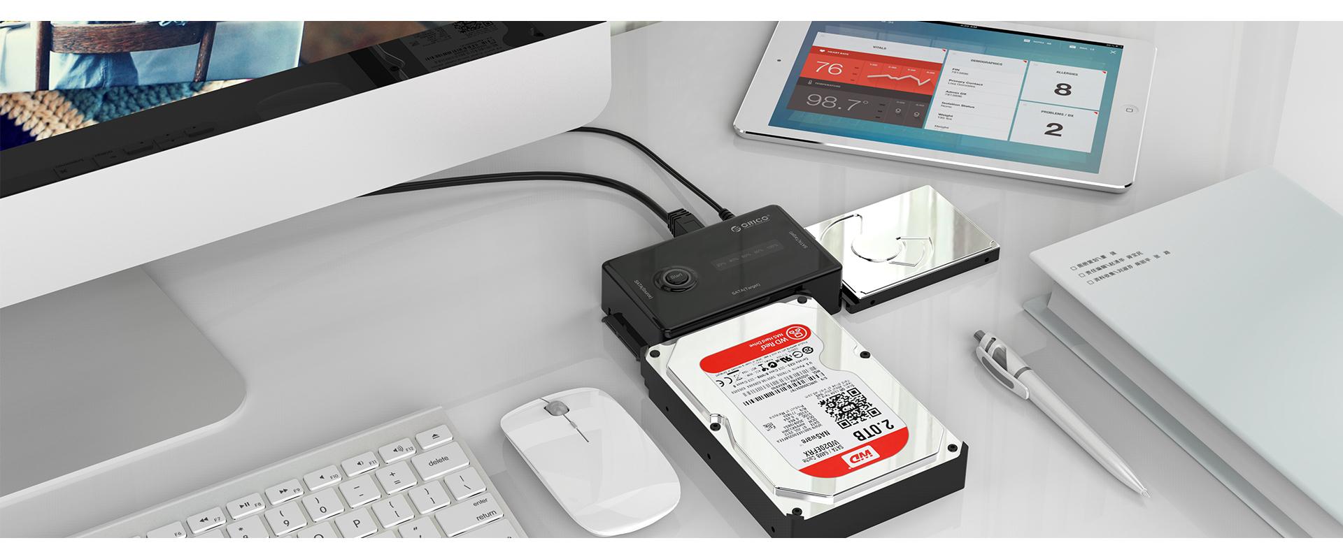 ORICO USB3.0 2.5 & 3.5 inch SATA External Hard Drive Duplicator Adapter