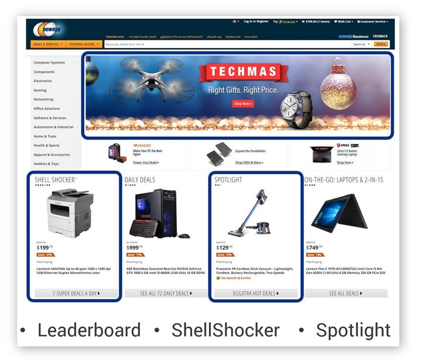 Promotions Leader board Shell Shocker Spotlight Homepage