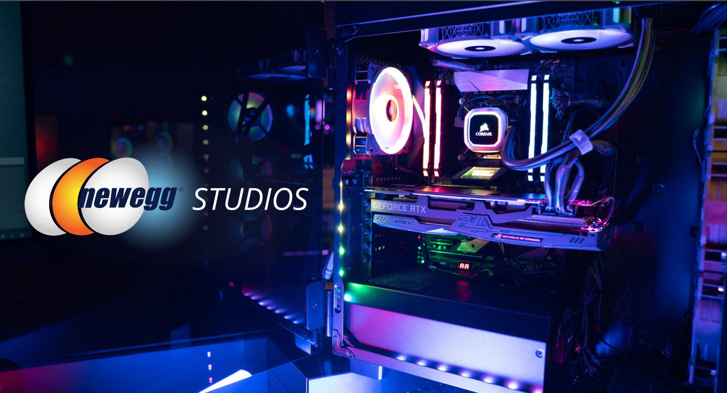 Newegg Studios uses content marketing and rich, educational messaging to craft an engaging brand pitch.